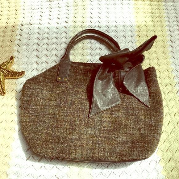 1c330676587 Deux Lux Handbags - Deux Lux Hobo Brown Fur Bag W  Bow